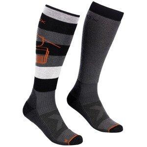 Pánské podkolenky Ortovox Free Ride Long Socks Velikost ponožek: 39-41 / Barva: černá