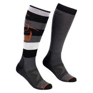 Pánské podkolenky Ortovox Free Ride Long Socks Velikost ponožek: 42-44 / Barva: černá