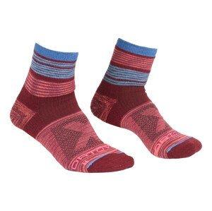 Dámské ponožky Ortovox W's All Mountain Quarter Socks Warm Velikost ponožek: 42-44 / Barva: multicolor