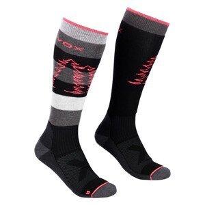 Dámské ponožky Ortovox W's Free Ride Long Socks Velikost ponožek: 39-41 / Barva: černá
