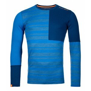 Pánské funčkní triko Ortovox 185 Rock'N'Wool Long Sleeve Velikost: S / Barva: modrá