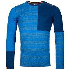 Pánské funčkní triko Ortovox 185 Rock'N'Wool Long Sleeve Velikost: L / Barva: modrá