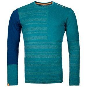 Pánské funčkní triko Ortovox 185 Rock'N'Wool Long Sleeve Velikost: M / Barva: zelená