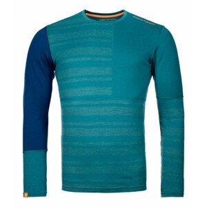 Pánské funčkní triko Ortovox 185 Rock'N'Wool Long Sleeve Velikost: L / Barva: zelená