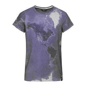Pánské triko Chillaz Kamu Worldclimbing Velikost: XL / Barva: šedá/fialová