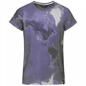 Pánské triko Chillaz Kamu Worldclimbing Velikost: XXL / Barva: šedá/fialová