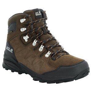 Pánské boty Jack Wolfskin Refugio Texapore Mid M Velikost bot (EU): 45,5 / Barva: hnědá