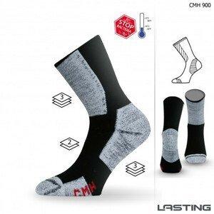Ponožky Lasting CMH Velikost ponožek: 38-41 / Barva: šedá/černá