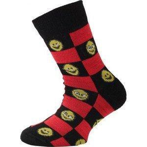 Dětské ponožky Lasting TJE Velikost ponožek: 34-37 / Barva: červená/černá