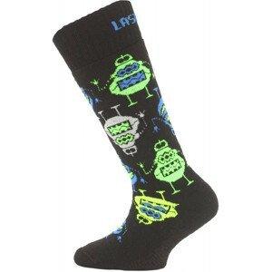 Dětské ponožky Lasting SJE Velikost ponožek: 24-28 / Barva: černá/modrá
