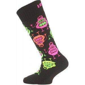 Dětské ponožky Lasting SJE Velikost ponožek: 24-28 / Barva: černá/růžová