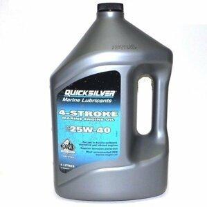 Quicksilver 4-Stroke Marine Engine Oil SAE 25W-40 4L