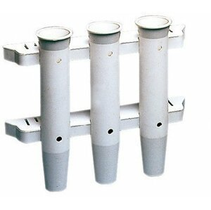 Osculati White nylon 3 rods wall holder