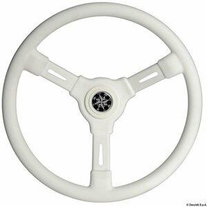 Osculati 3-spoke steering wheel white 355 mm