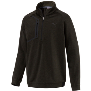 Puma Envoy 1/4 Zip Mens Sweater Forest Night L