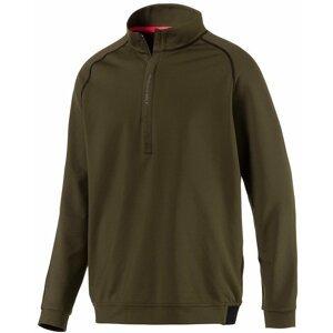 Puma PWRWARM 1/4 Zip Mens Sweater Forest Night M