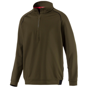 Puma PWRWARM 1/4 Zip Mens Sweater Forest Night L