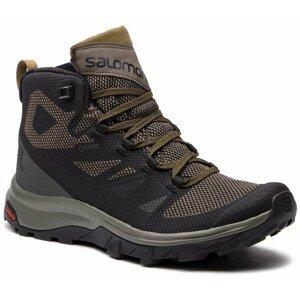 Salomon Outline Mid GTX Black/Beluga/Capers 11