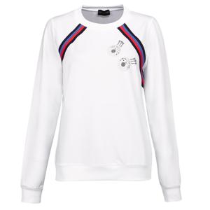 Golfino Retro Sport Round Neck Womens Sweater Optic White 36