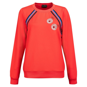 Golfino Retro Sport Round Neck Womens Sweater Scarlet 34
