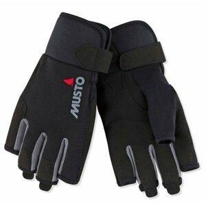 Musto Essential Sailing Short Finger Glove Black XXL jachtařské rukavice