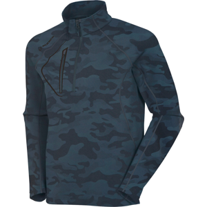 Sunice Allendale 1/2 Zip Mens Sweater Charcoal Camo/Black L