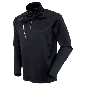Sunice Alexander Thermal Zip Mens Sweater Black/Pure White M