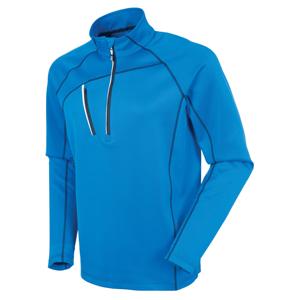 Sunice Alexander Thermal Zip Mens Sweater Vibrant Blue/Pure White M