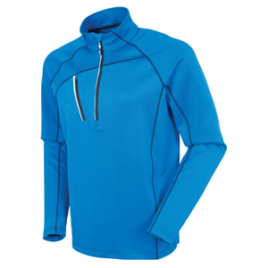 Sunice Alexander Thermal Zip Mens Sweater Vibrant Blue/Pure White L