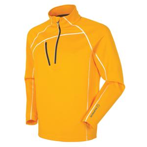 Sunice Alexander Thermal Zip Mens Sweater Sun Orange/Pure White L