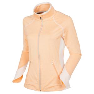 Sunice Esther Full Zip Womens Jacket Peach Cobbler Melange/Pure White XS