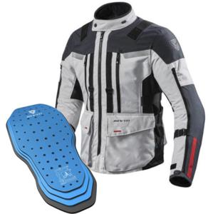 Rev'it! Jacket Sand 3 Silver-Anthracite L Protector 05SET
