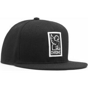 Chrome Baseball Cap Black/White