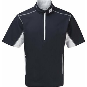 Footjoy Half-Zip Short Sleeve Windshirt Mens Jacket Navy/White L