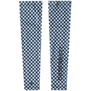 J.Lindeberg Leea Compression Sleeves Gingham Navy White XS/S