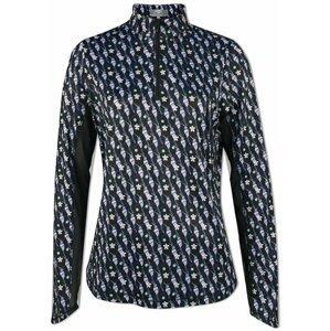 Callaway Parasol Print Sun Protection Womens Sweater Caviar S