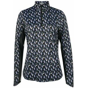 Callaway Parasol Print Sun Protection Womens Sweater Caviar XS