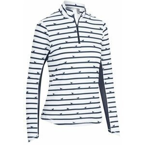 Callaway Parasol Print Sun Protection Womens Sweater Peacoat L