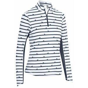 Callaway Parasol Print Sun Protection Womens Sweater Peacoat XS