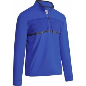 Callaway Pieced Printed Mens Sweater Egyptian Blue L