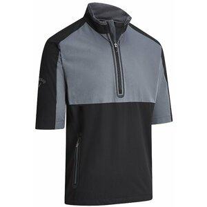 Callaway Blocked Wind 1/2 Sleeve Mens Jacket Caviar XL