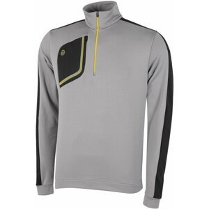 Galvin Green Dwight Mens Insula Sweater Sharkskin/Black/Yellow M