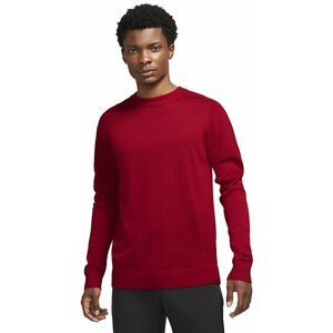 Nike Tiger Woods Mens Sweater Gym Red/Black S