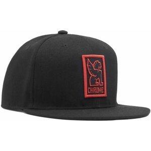 Chrome Baseball Cap Black/Red