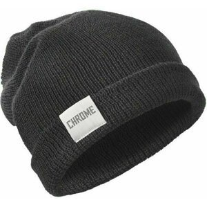 Chrome Wool Cuff Beanie Black