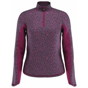 Callaway Mini Floral 1/4 Zip Sun Protection Womens Sweater Lilac Rose M