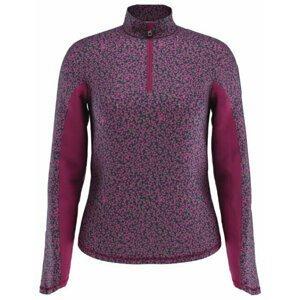 Callaway Mini Floral 1/4 Zip Sun Protection Womens Sweater Lilac Rose 2XL