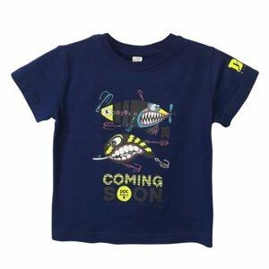 DOC Dětské triko Třpytky královská modrá