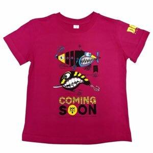 DOC Dětské triko Třpytky purpurová