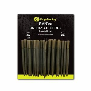 RidgeMonkey Převleky RM-Tec Anti Tangle Sleeves 45mm 25ks - Hnědý